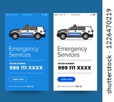 emergency services app with suv ...