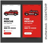 fire rescue app with suv ux and ... | Shutterstock .eps vector #1226470249