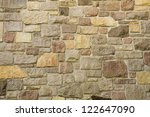 A Masonry Wall Of Multicolored...