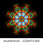 abstract fractal futuristic... | Shutterstock . vector #1226471263