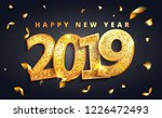 2019 happy new year  lettering  ... | Shutterstock .eps vector #1226472493