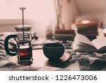 cozy winter morning at home... | Shutterstock . vector #1226473006