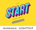 vector bold start font trendy... | Shutterstock .eps vector #1226475319