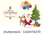 merry christmas  santa claus...   Shutterstock .eps vector #1226476270