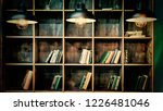 library. bookshelves with... | Shutterstock . vector #1226481046