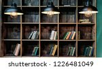 library. bookshelves with... | Shutterstock . vector #1226481049