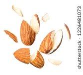 slice peeled almond nut blast...   Shutterstock . vector #1226481073