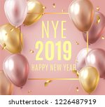 vector stock elegant pink... | Shutterstock .eps vector #1226487919