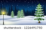 Cartoon Of Winter Night...