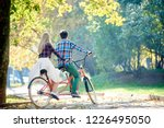 back view of young traveler... | Shutterstock . vector #1226495050