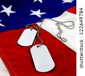 Military Dog Tags On Vivid...
