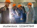 black smith welding pieces of... | Shutterstock . vector #1226497849
