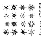 snowflake vector icon... | Shutterstock .eps vector #1226498200