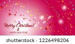 stars glitter pattern red... | Shutterstock .eps vector #1226498206