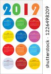 calendar design for 2019.... | Shutterstock .eps vector #1226498209