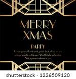 luxury christmas or xmas art... | Shutterstock .eps vector #1226509120