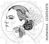 vector of a beautiful girl in... | Shutterstock .eps vector #1226514376