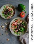 homemade vegetarian cuisine  ... | Shutterstock . vector #1226522086