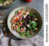 homemade vegetarian cuisine  ... | Shutterstock . vector #1226522089