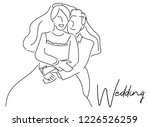 continuous line drawing of... | Shutterstock .eps vector #1226526259