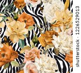 seamless floral pattern with... | Shutterstock . vector #1226529013