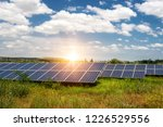 solar panel  photovoltaic ... | Shutterstock . vector #1226529556