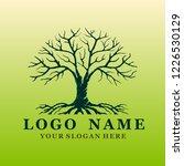 tree vector logo  illustration... | Shutterstock .eps vector #1226530129