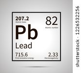 lead chemical element with...   Shutterstock .eps vector #1226532256