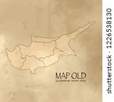old cyprus map with vintage... | Shutterstock .eps vector #1226538130