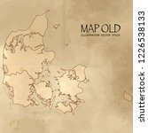 old denmark map with vintage... | Shutterstock .eps vector #1226538133
