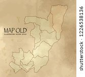 old congo map with vintage... | Shutterstock .eps vector #1226538136