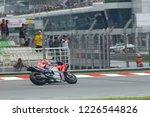 Small photo of SEPANG, MALAYSIA - NOVEMBER 3, 2018: Italian Ducati rider Andrea Dovizioso at SHELL MotoGP of Malaysia