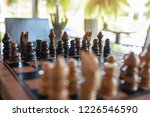 closeup image of a wooden chess ... | Shutterstock . vector #1226546590