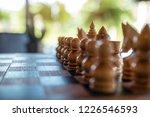 closeup image of a wooden chess ... | Shutterstock . vector #1226546593