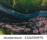 aerial view of mountain river... | Shutterstock . vector #1226550970