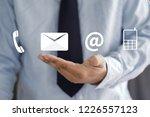 contact us  customer support... | Shutterstock . vector #1226557123