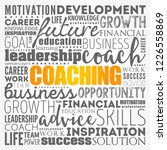 coaching word cloud collage ... | Shutterstock .eps vector #1226558869