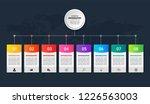 timeline infographics template...   Shutterstock .eps vector #1226563003