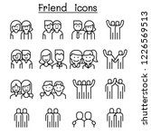 friendship   friend icon set in ... | Shutterstock .eps vector #1226569513