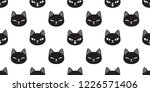 cat seamless pattern vector... | Shutterstock .eps vector #1226571406