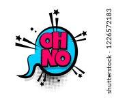 oh no lettering. comics book...   Shutterstock . vector #1226572183