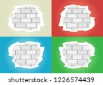 white blue red green torn... | Shutterstock .eps vector #1226574439