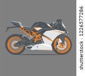 Illustration Of Ktm Bike From...
