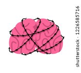 brain and barbed wire. sick... | Shutterstock .eps vector #1226585716