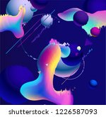 fluid style background | Shutterstock . vector #1226587093