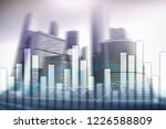 financial graphs and charts on... | Shutterstock . vector #1226588809