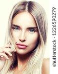 close up beauty model girl... | Shutterstock . vector #1226590279