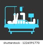injured man in medical bed. man ... | Shutterstock .eps vector #1226591770
