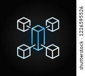 blockchain line creative... | Shutterstock .eps vector #1226595526