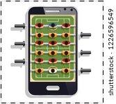 table soccer. mobile app.... | Shutterstock . vector #1226596549